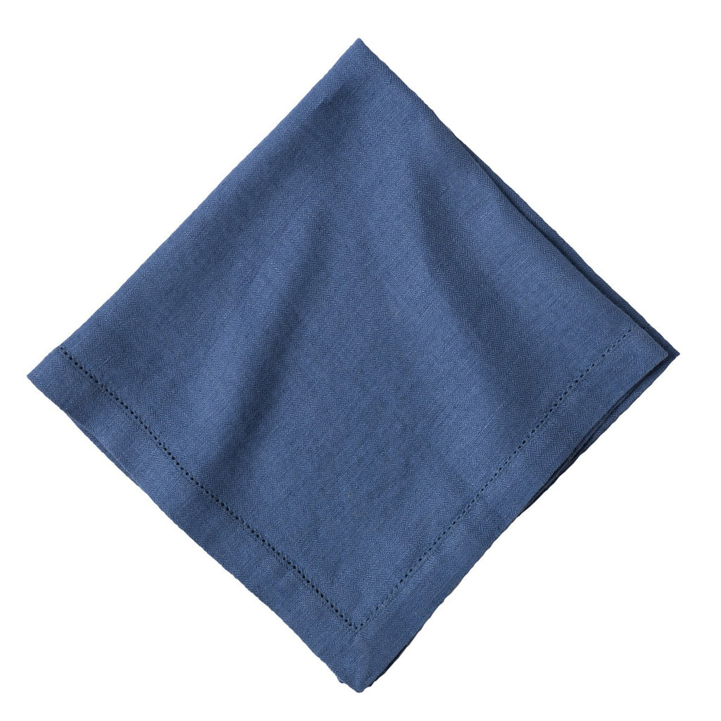 Heirloom Linen Delft Blue Napkins, Set/4