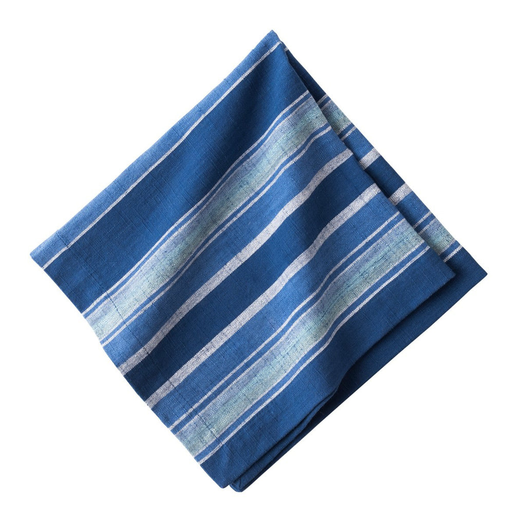 Indigo Stripe Napkins, Set/4