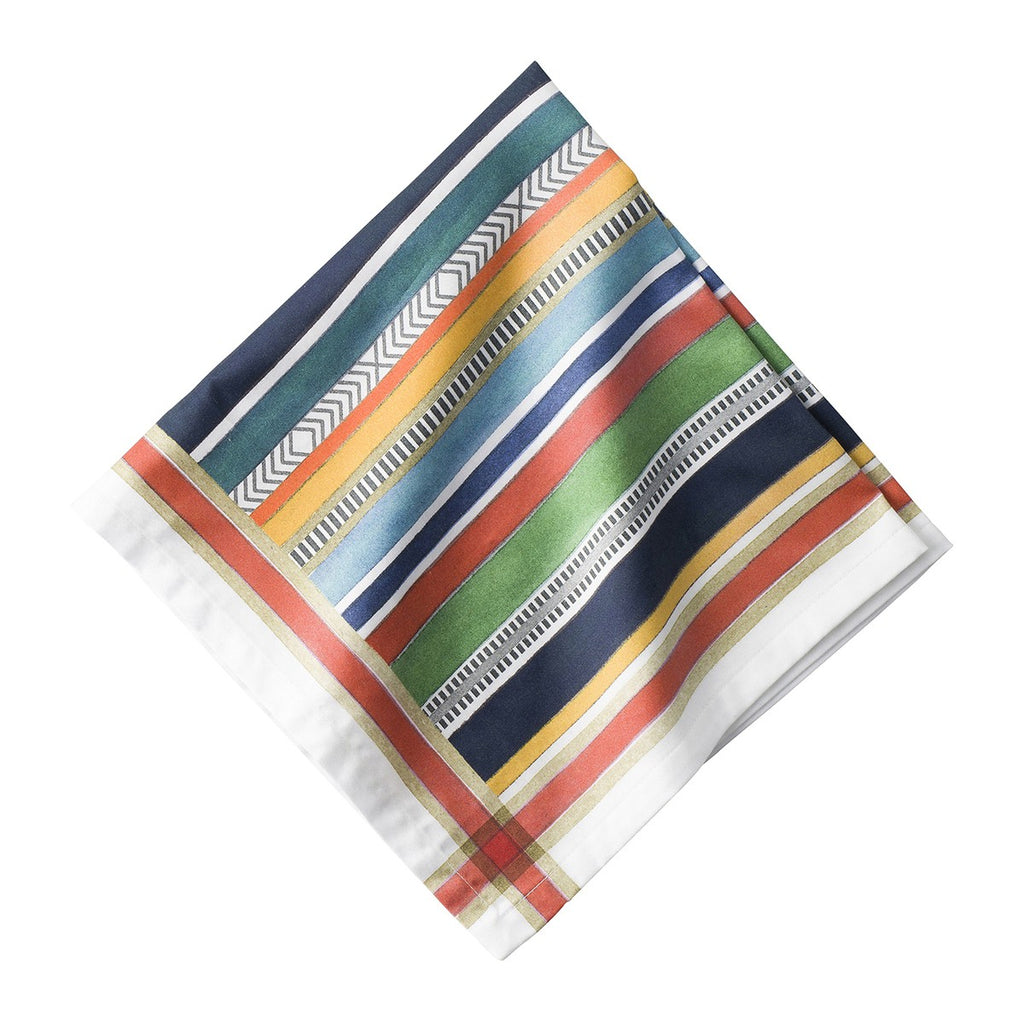 Basque Stripe Napkins, Set/4