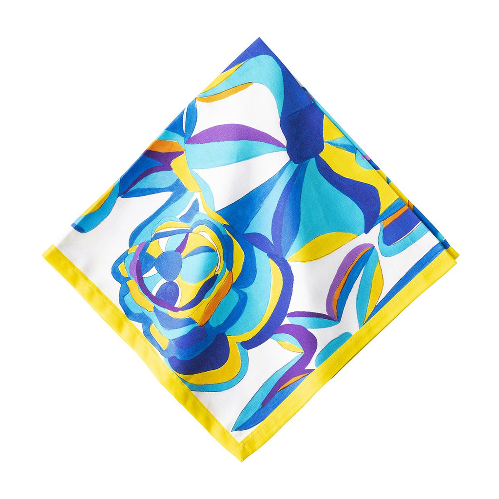 Blue Rose Napkins, Set/4