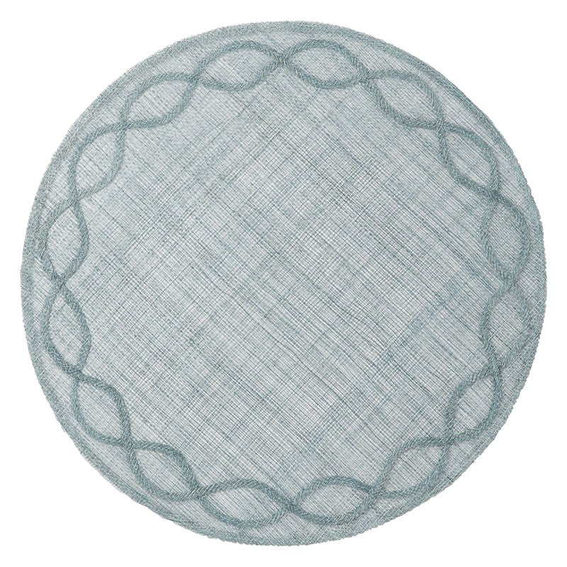 Tuileries Garden Ice Blue Placemats, Set/4