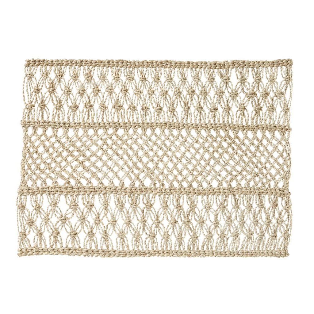 Macrame Natural Placemats, Set/4