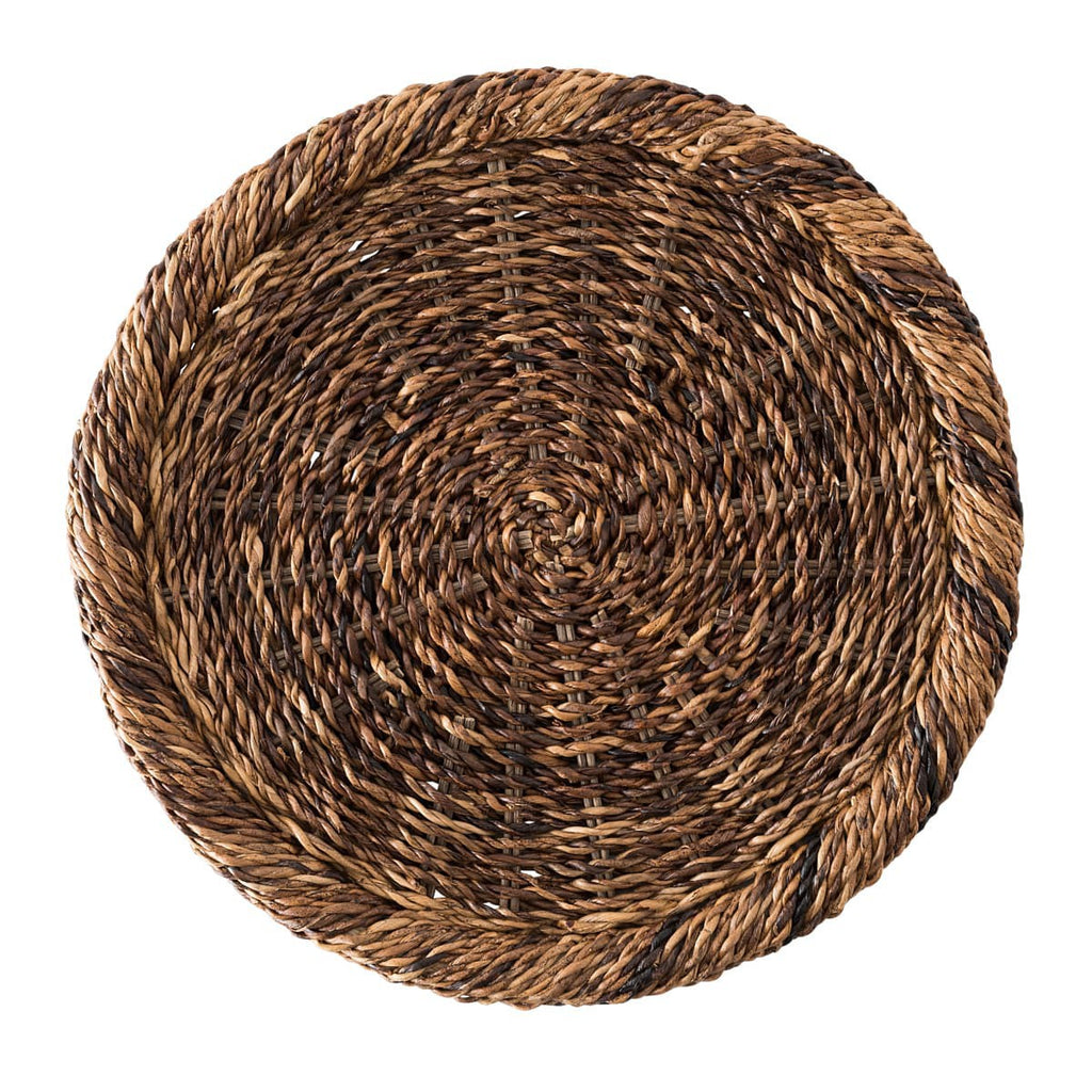 Rustic Rope Natural Chargers, Set/4