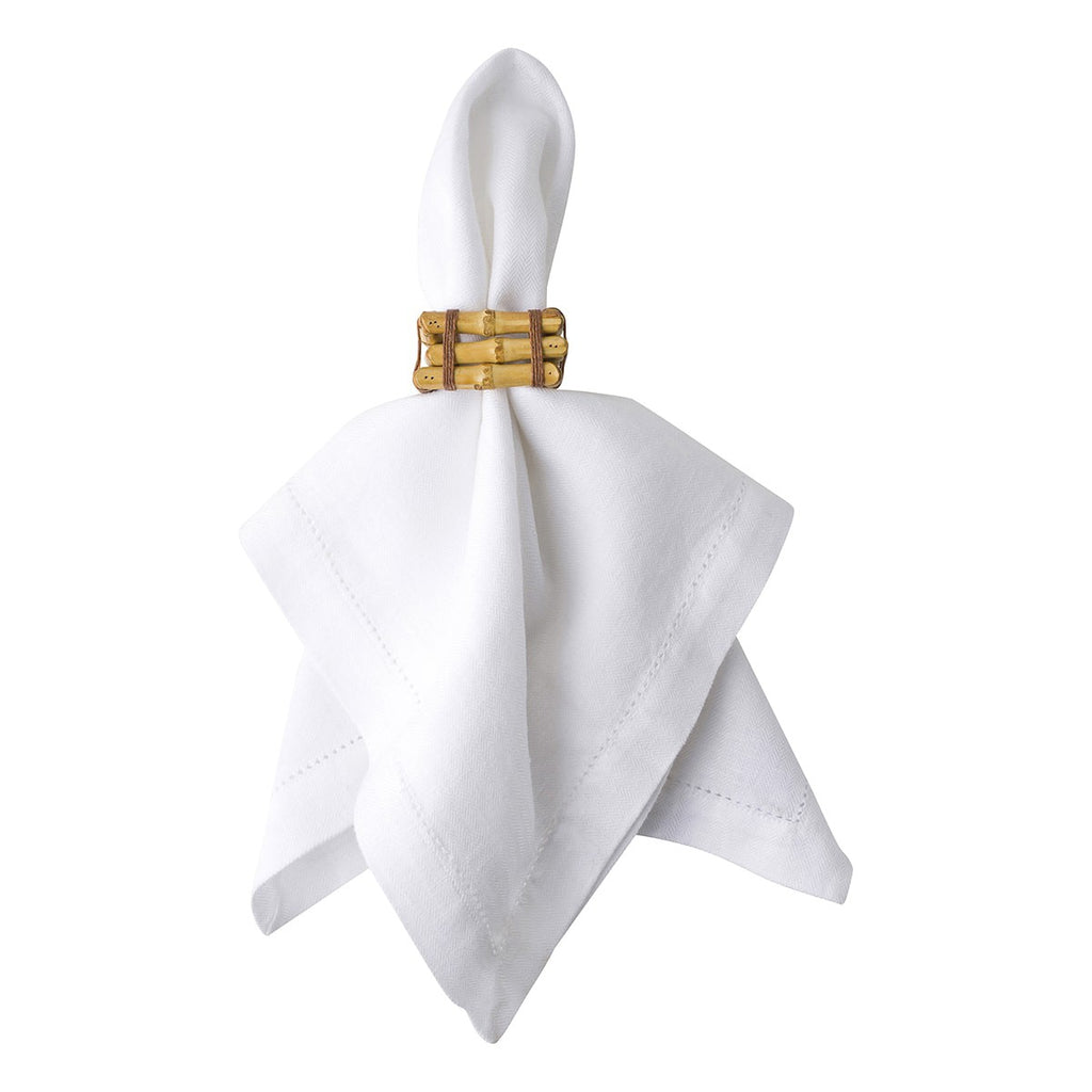 Natural Bamboo Napkin Ring, Set/4