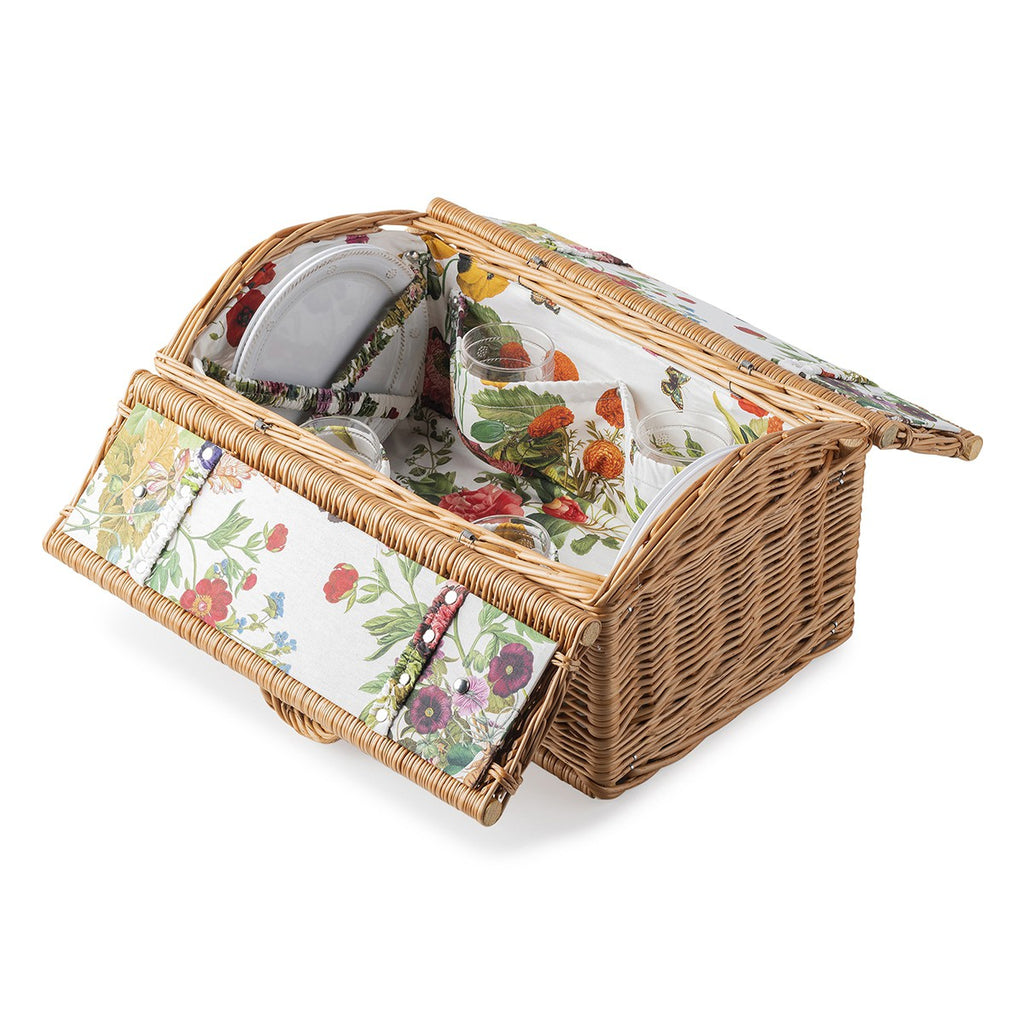 Picnic Basket Set with Berry & Thread Melamine