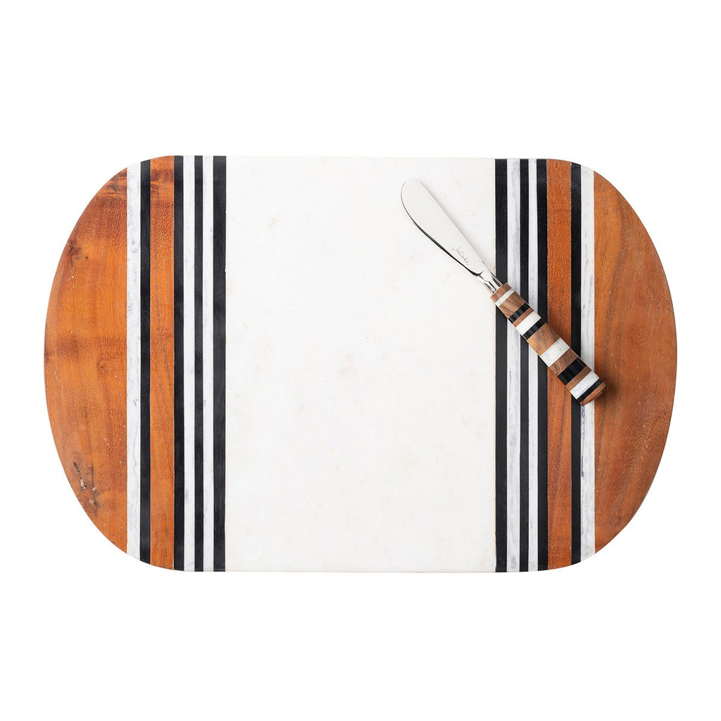 Stonewood Stripe Serving Board & Spreader