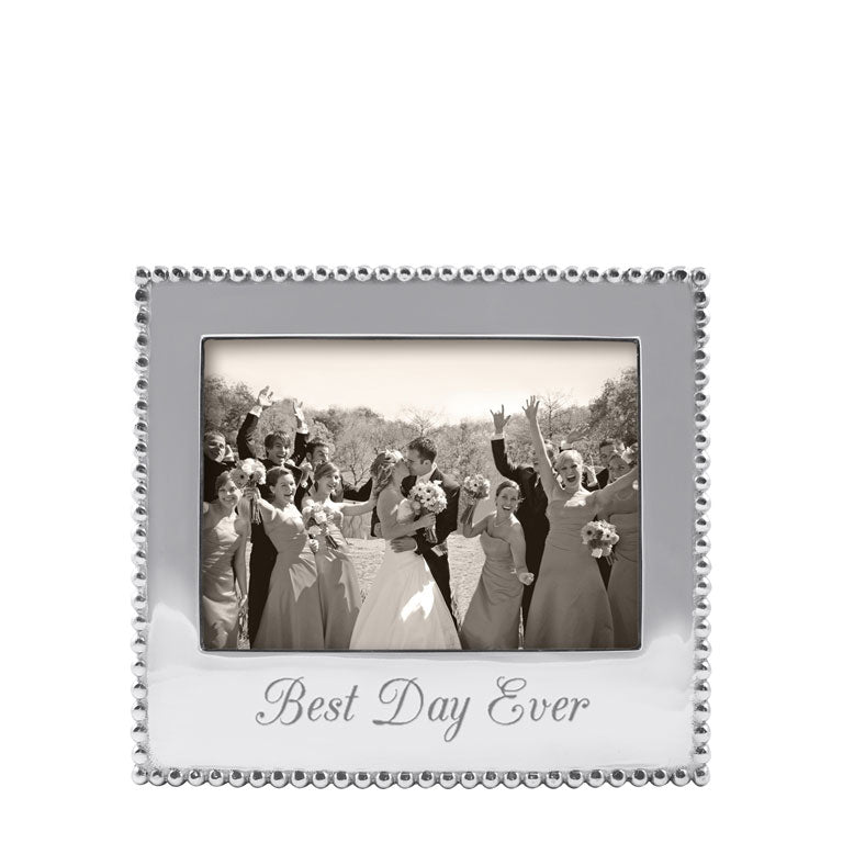 """Best Day Ever"" Beaded Frame, 5x7"""