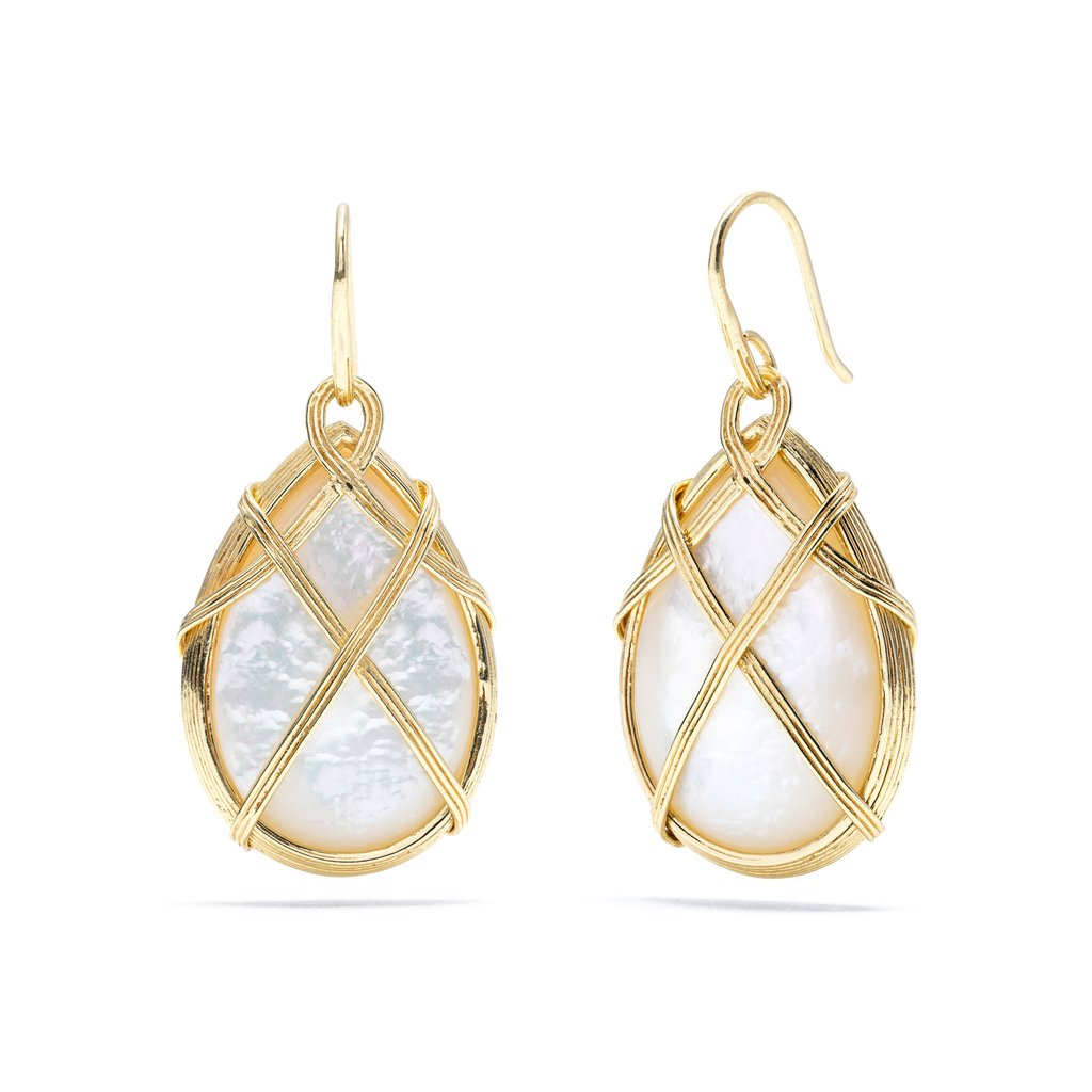 Mother of Pearl Ocean Goddess Drop Earrings