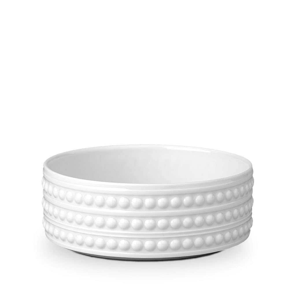 Perlée White Large Deep Bowl