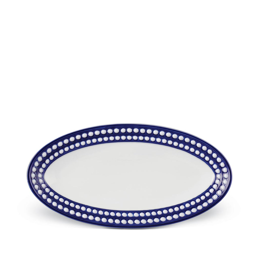 Perlée Blue Small Oval Platter