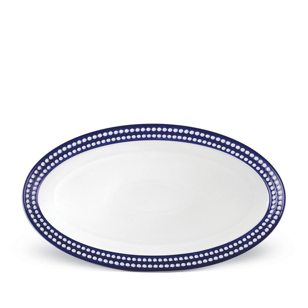 Perlée Blue Large Oval Platter