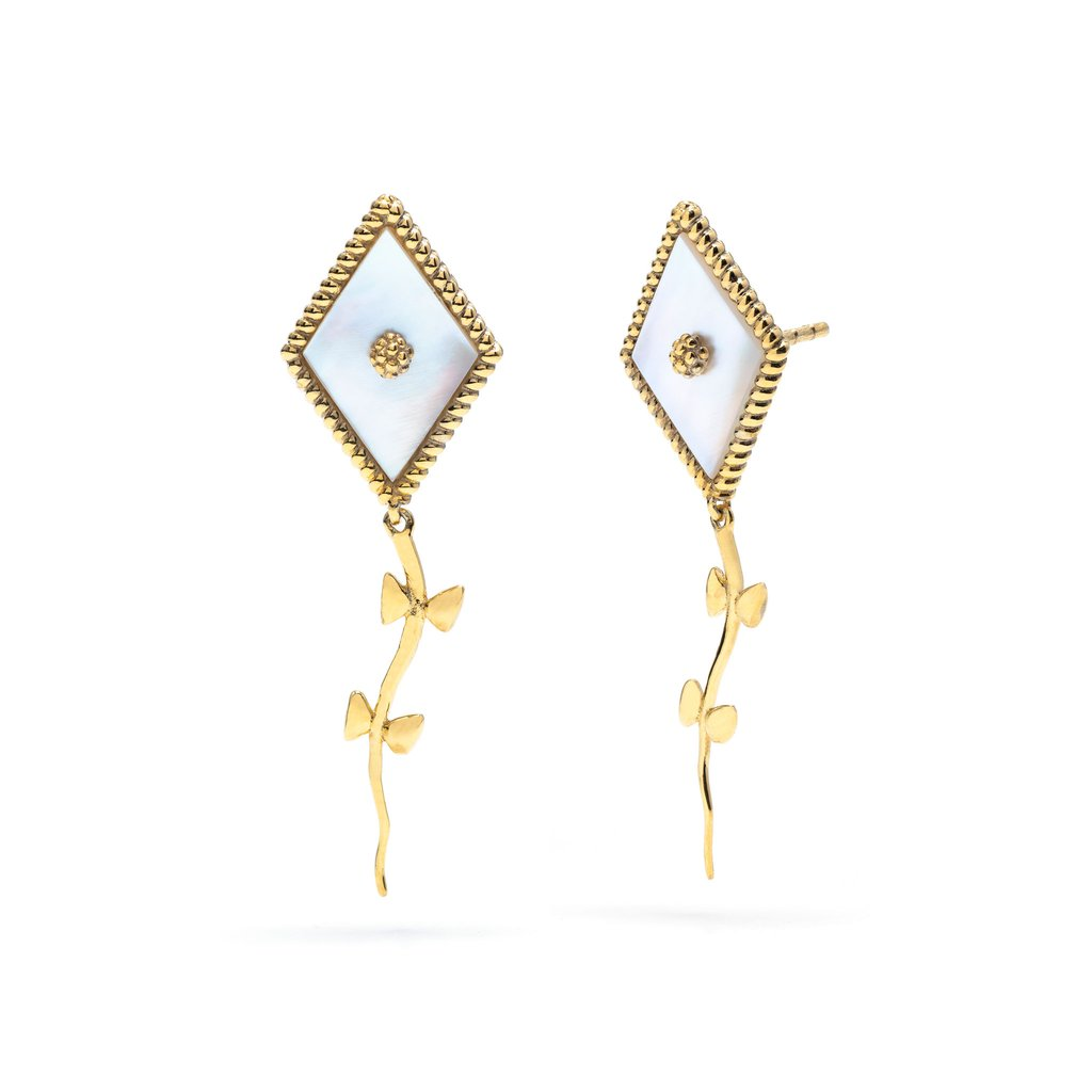 Mother of Pearl Petite Kite Earrings