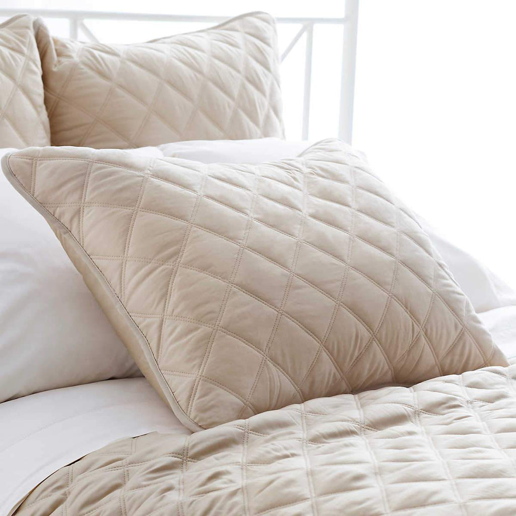Quilted Silken Solid Shams