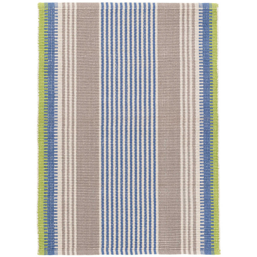 York Stripe Woven Cotton Rug