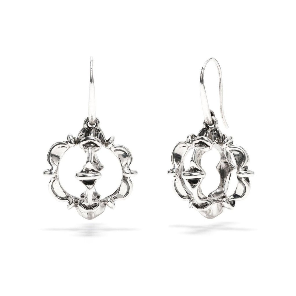 Silver Ruffle Urchin Earrings