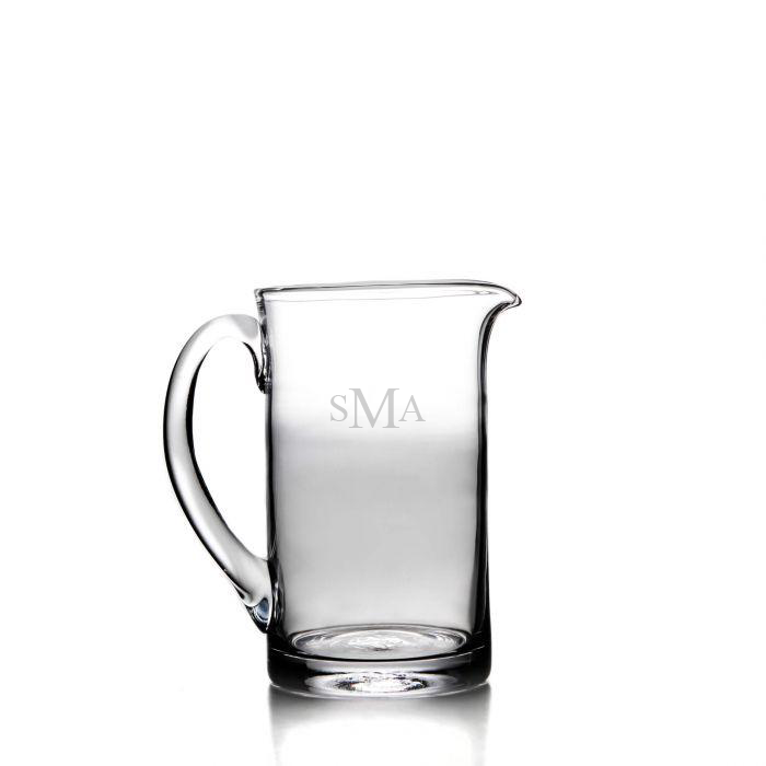 Ascutney Glass Pitcher, Medium with Monogram