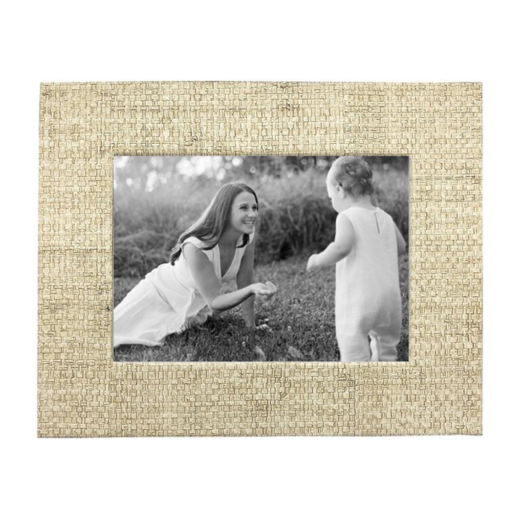 Sand Faux Grasscloth Frame, 5x7""