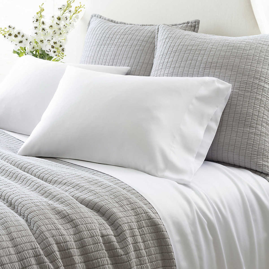 Silken Solid White Sheet Set