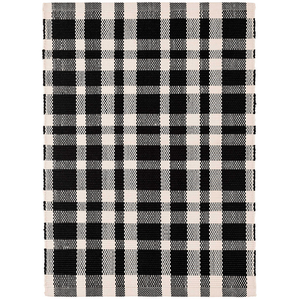 Tattersall Black Indoor/Outdoor Rug