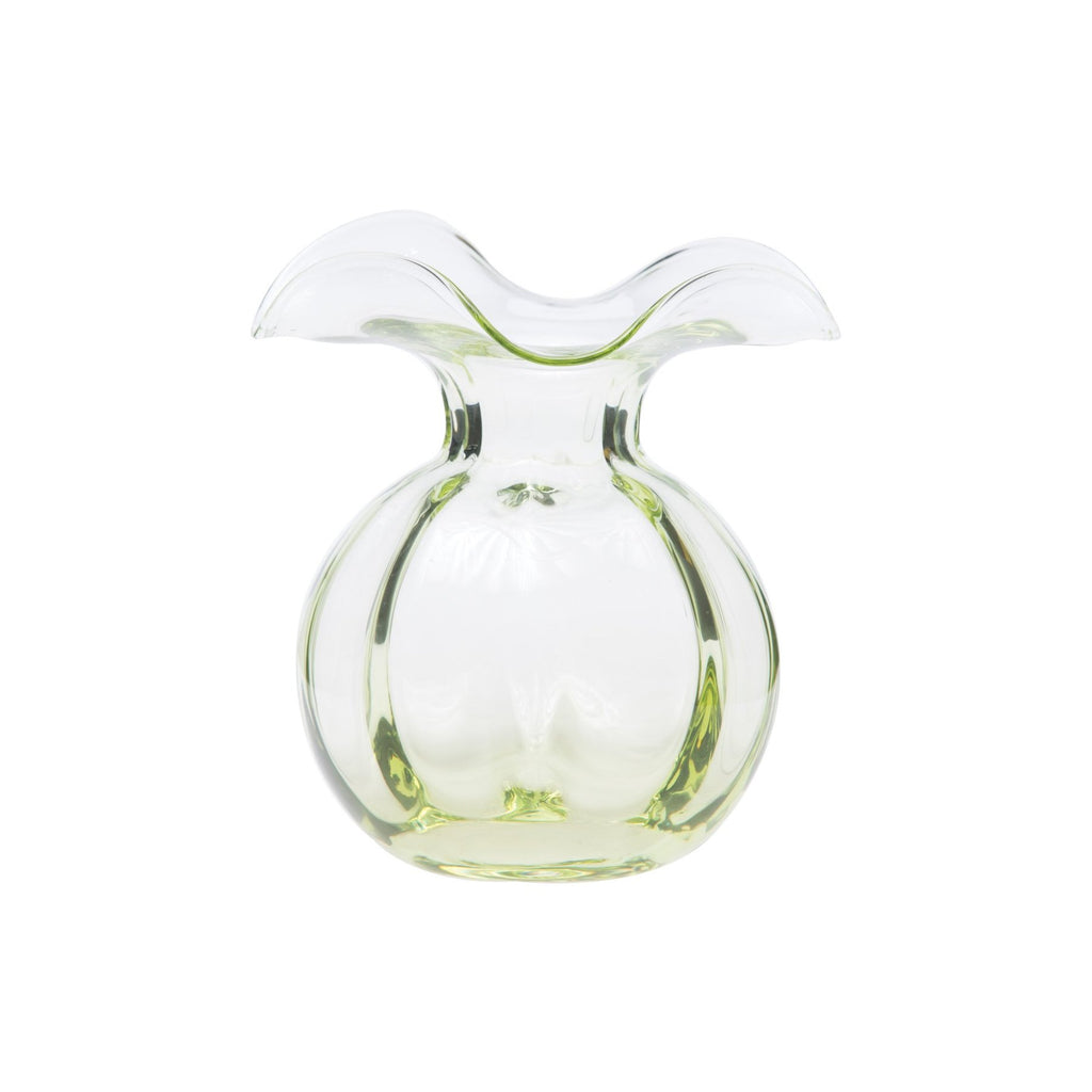 Green Hibiscus Glass Bud Vase