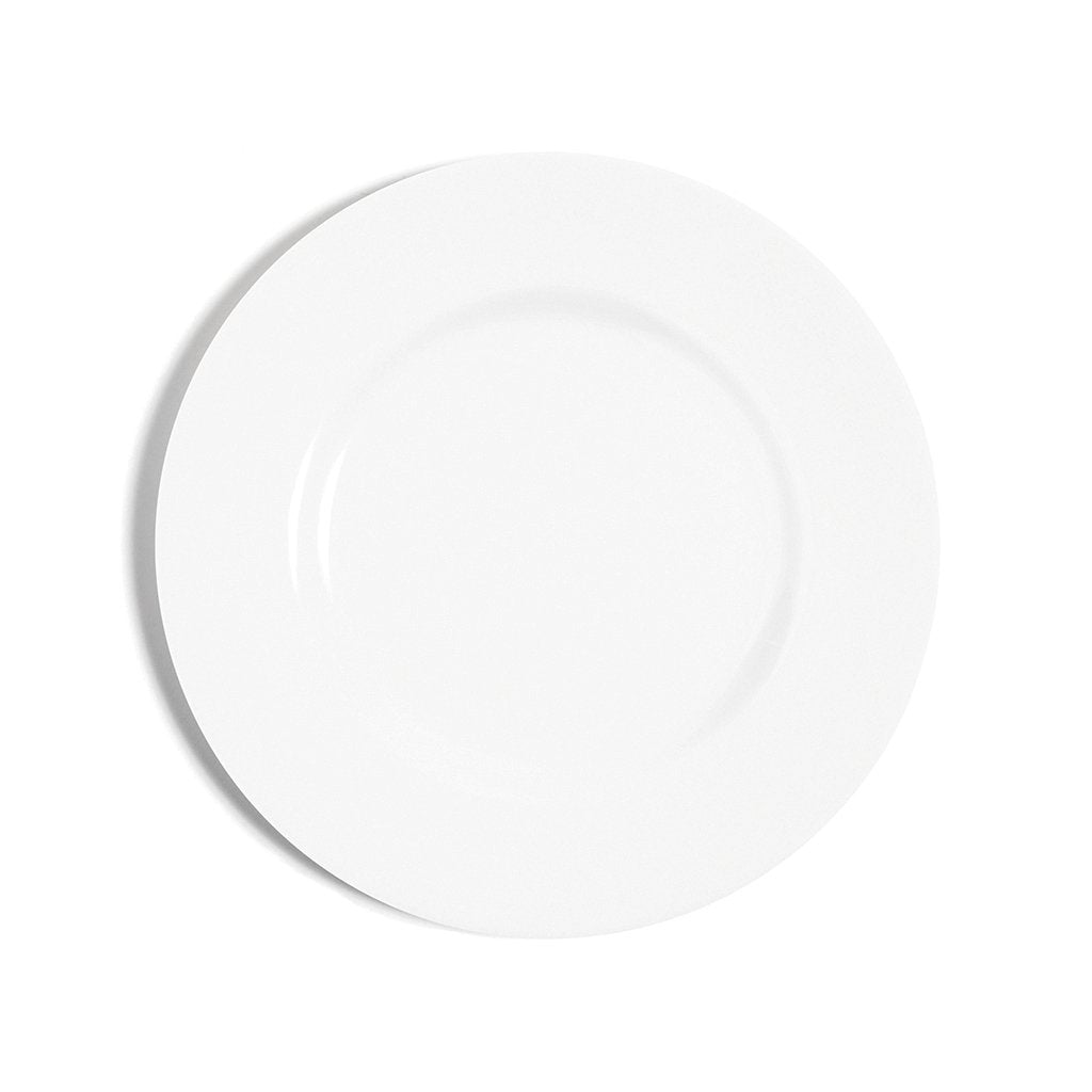 White Rimmed Bread and Butter Plate