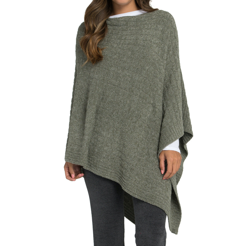 Cozychic Cable Poncho
