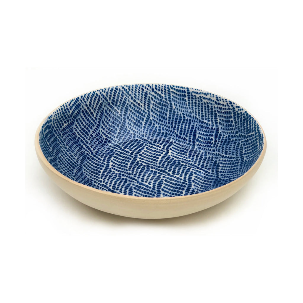 Cobalt Braid Serving Bowl, Medium