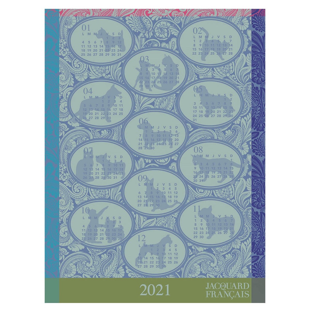 Tea Towel - Calendrier 2021 Blue