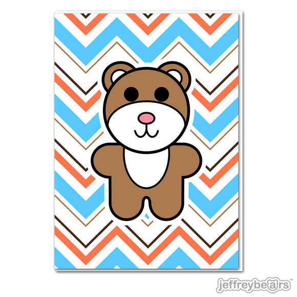 Jeffrey Bear Greeting Card