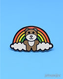 Jeffrey Bear Rainbow Enamel Pin