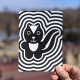 Quizzy Skunk Greeting Card