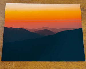 Rocky Mountain Orange Sunrise Landscape Photo - Alterned North - Photo Print