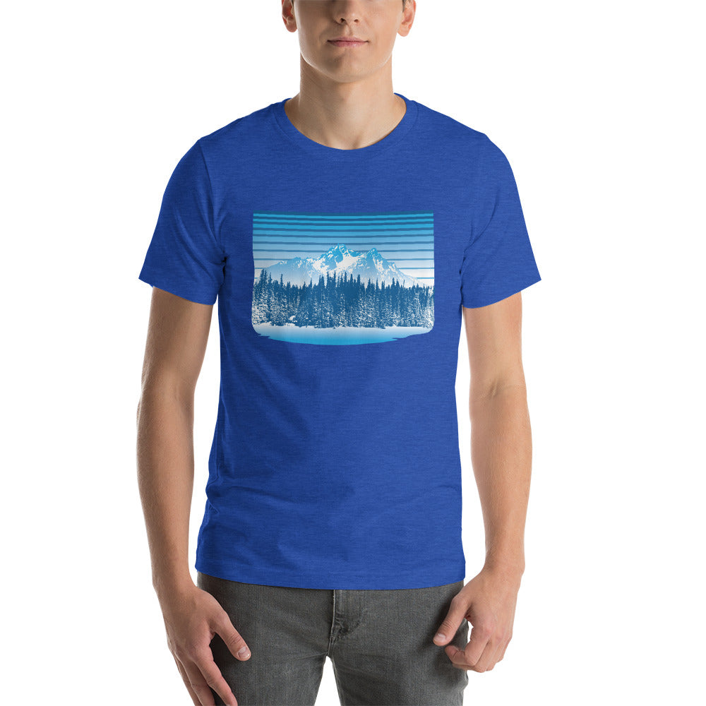 Colorado Rocky Mountain Winter Retro - T-Shirt - Men's - Alterned North - T-Shirt - Men