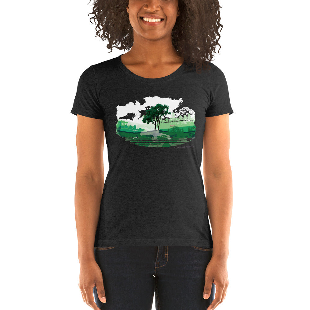 Foggy Colorado Fields - T-Shirt - Women's - Alterned North - T-Shirt - Women