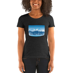 Colorado Rocky Mountain Winter Retro - T-Shirt - Women's - Alterned North - T-Shirt - Women