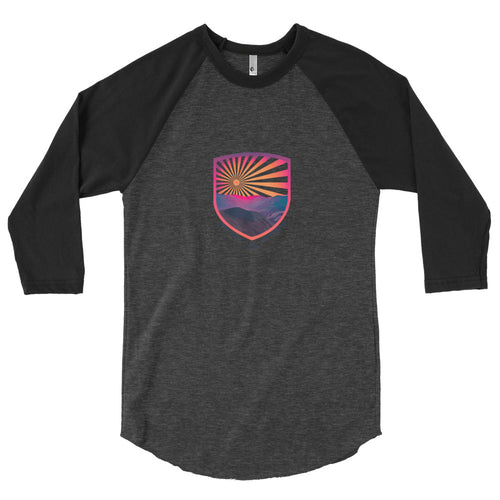 Mount Sniktau Colorado Sunrise - 3/4 Reglan Shirt - Men's - Alterned North - 3/4 Sleeve
