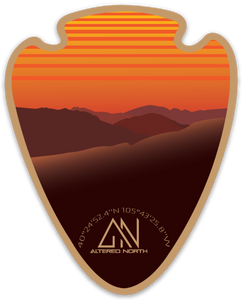 Rocky Mountain Orange Sunrise Sticker - Alterned North - Sticker