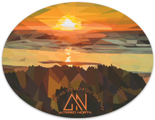 Oregon Coast Sunset Sticker - Alterned North - Sticker