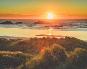 Oregon Coast Sunset Landscape Photo - Alterned North - Photo Print