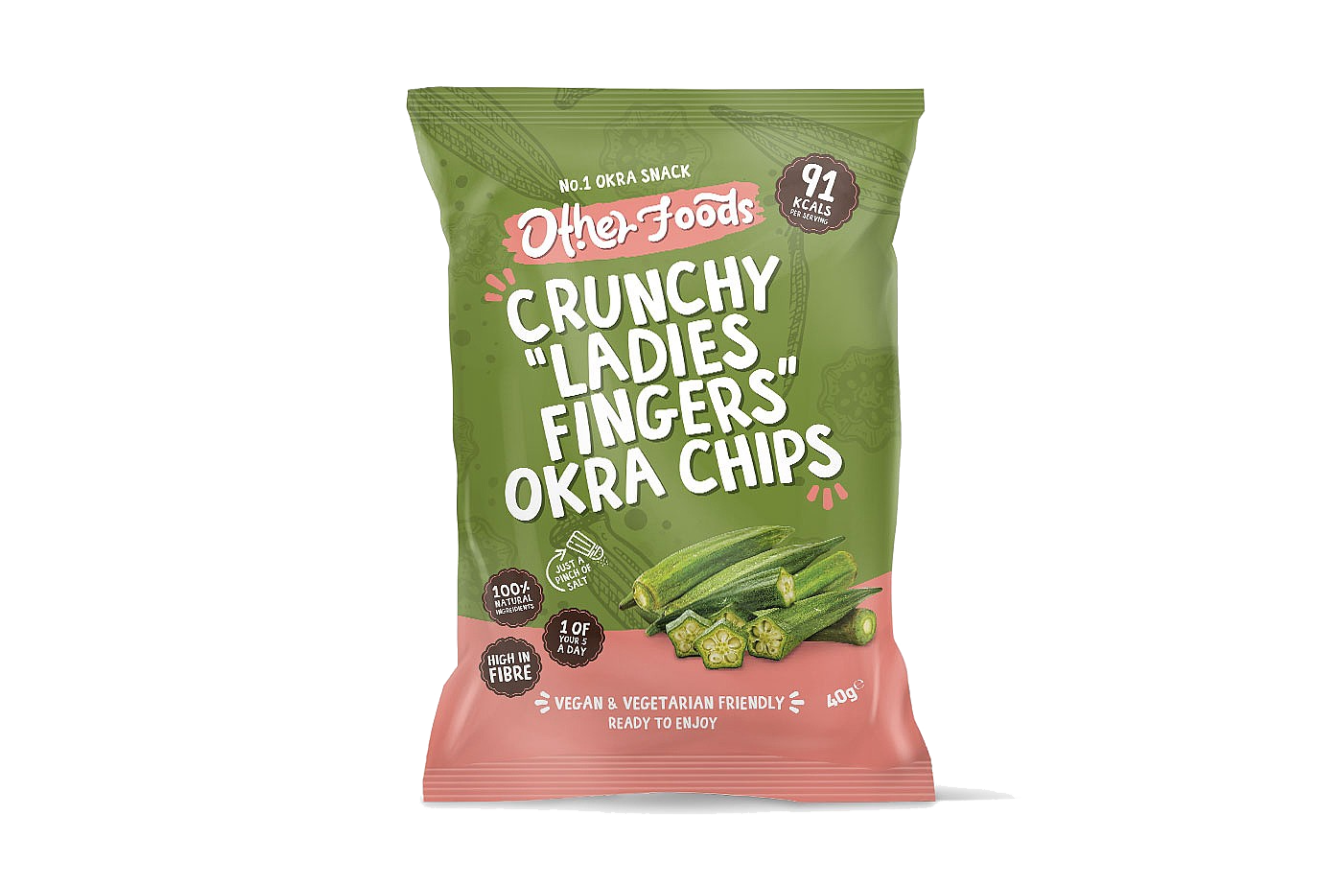 Other Foods Crunchy Ladies Fingers Okra Chips | Eatoo UK