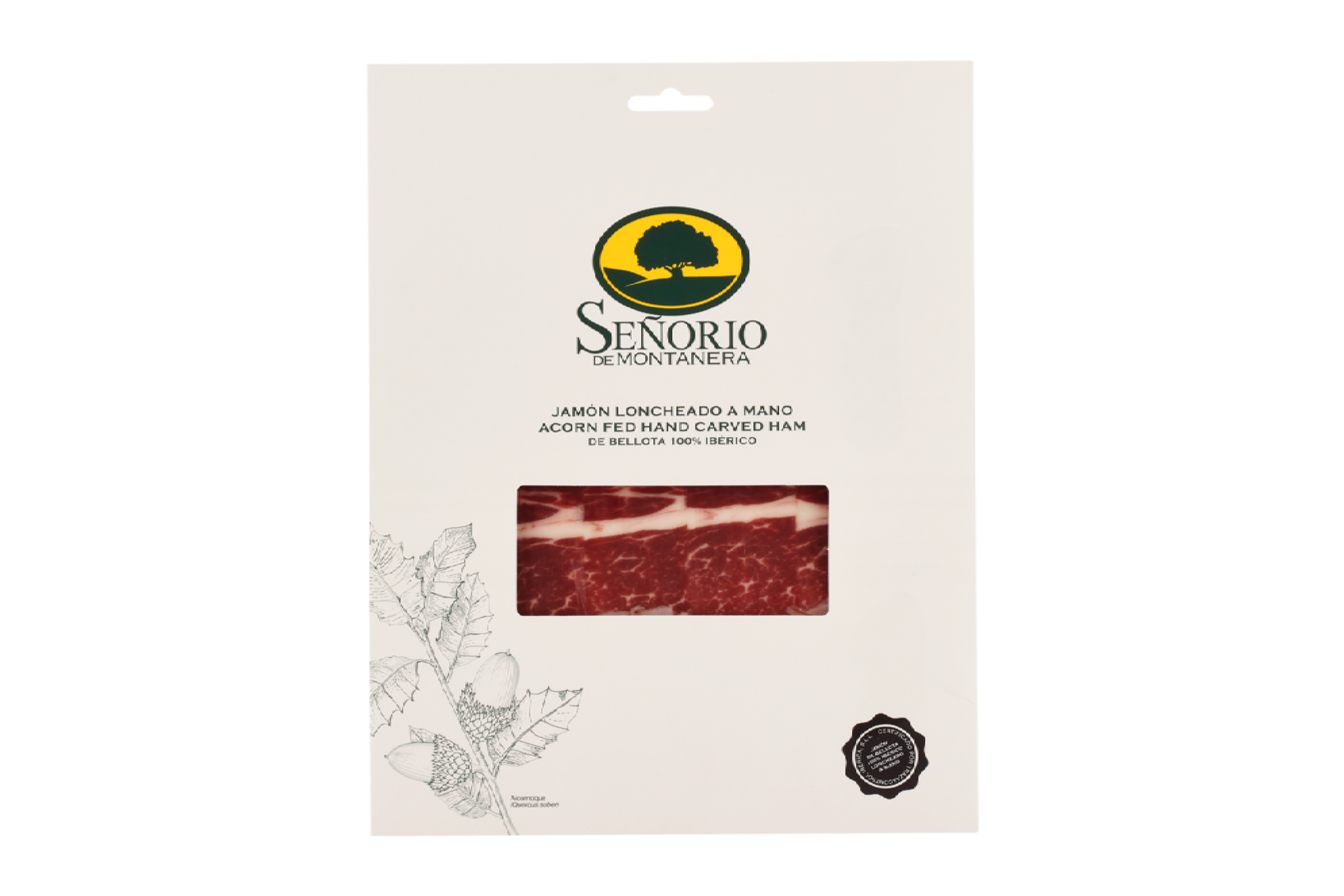 Senorio Bellota 100% Iberico Hand-Carved Ham DOP | Eatoo UK