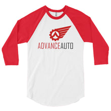 Load image into Gallery viewer, 3/4 Sleeve Raglan Shirt with Advance Auto Logo