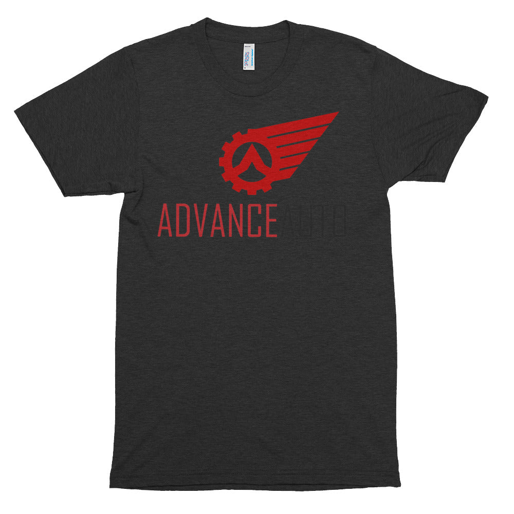 Men's Short Sleeve Tri-Blend Soft T-shirt with Advance Auto Logo Print