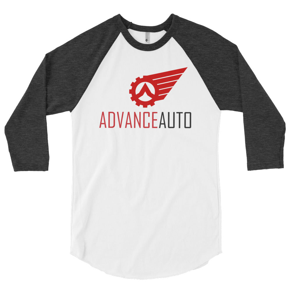 3/4 Sleeve Raglan Shirt with Advance Auto Logo