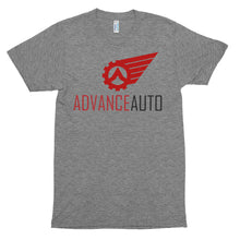 Load image into Gallery viewer, Men's Short Sleeve Tri-Blend Soft T-shirt with Advance Auto Logo Print