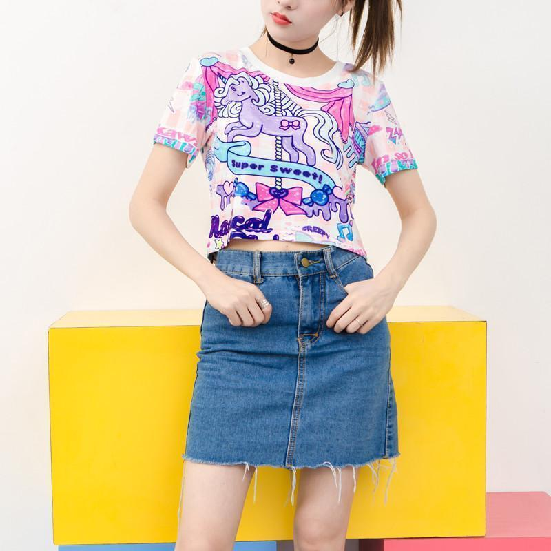 3da190e16d5 Crop Tops - Chibi Nation - Kawaii Kpop Harajuku Fashion Wonderland