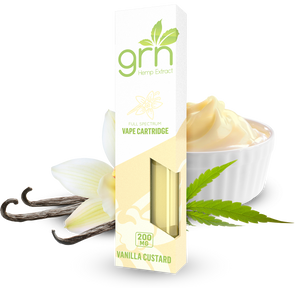 VANILLA CUSTARD CBD CARTRIDGE BY GRN CBD