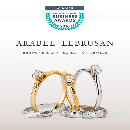 Winner of the 2016 FSB Bedfordshire Business Green Award, ethical jewellery designer Arabel Lebrusan uses Fairtrade and sustainable practices in her award winning jewellery