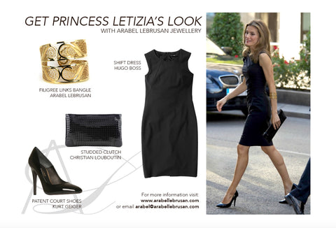 HRH Princess Letizia of Spain wearing Arabel Lebrusan Jewellery