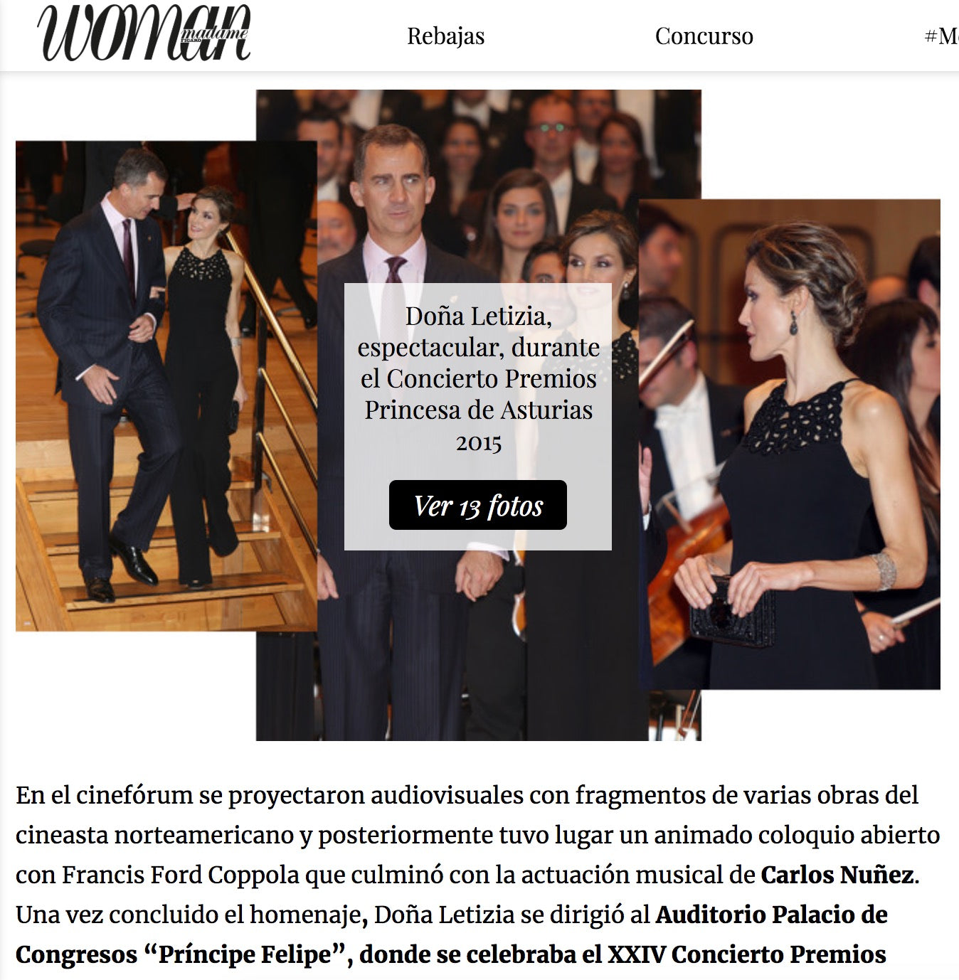 Woman & Queen Letizia